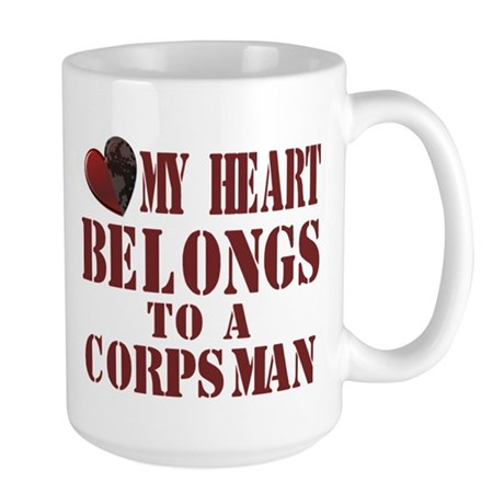 my heart corpsman Large Mug