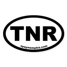 TNR Trap-Neuter-Return Oval Bumper Stickers