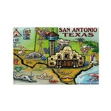 Cute San antonio Rectangle Magnet