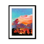 San Diego California Sunset Framed Panel Print