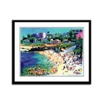 La Jolla Cove Beach Framed Panel Print