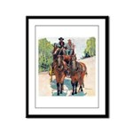 Stagecoach Days Framed Panel Print
