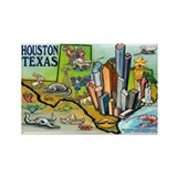 Cute Houston texas Rectangle Magnet