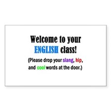 WELCOME to ENGLISH Please Lea Rectangle Decal