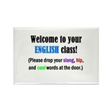 WELCOME to ENGLISH Please Lea Rectangle Magnet (10