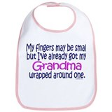 Fingers May Be Small Grandma Bib