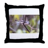 Cute Backyards birds Throw Pillow