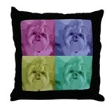 Shih Tzu Pop Art Missy Throw Pillow