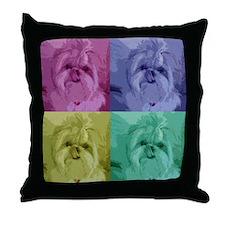 Shih Tzu Pop Art Missy Throw Pillow
