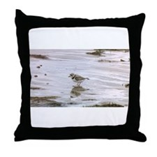 Funny Shorebird Throw Pillow