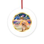 Xmas Star & Golden Retriever (B) Ornament (Rou
