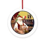 Santa's Golden (B4) Ornament (Round)