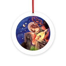 Mandolin Angel Irish Water Dog Ornament (Round)