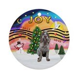 xmas Music 2 - Italian Spinone (roan2) Ornament