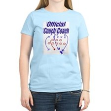 Football Couch Coach Women's Pink T-Shirt