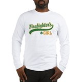 Irish Firefighter's Girl Long Sleeve T-Shirt