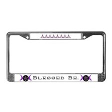 Purple Goddess Symbol License Plate Frame