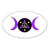 Purple Goddess Symbol Oval Decal