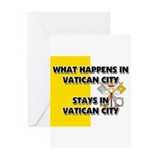 What Happens In VATICAN CITY Stays There Greeting