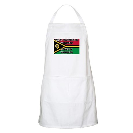 What Happens In VANUATU Stays There BBQ Apron