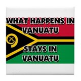 What Happens In VANUATU Stays There Tile Coaster