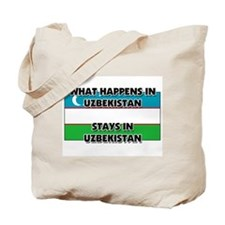 What Happens In UZBEKISTAN Stays There Tote Bag