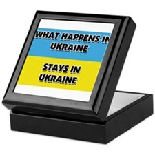 What Happens In UKRAINE Stays There Keepsake Box