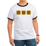 Brown Shield Design Ringer T