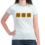 Brown Shield Design Jr. Ringer T-Shirt
