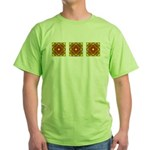 Brown Shield Design Green T-Shirt