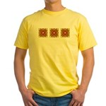 Brown Shield Design Yellow T-Shirt