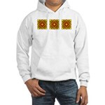 Brown Shield Design Hooded Sweatshirt