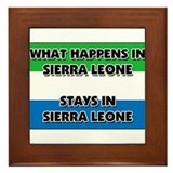 What Happens In SIERRA LEONE Stays There Framed Ti