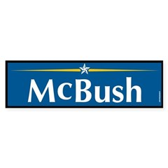 McBush Anti McCain Bumper Sticker