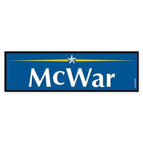 McWar Anti McCain Bumper Sticker