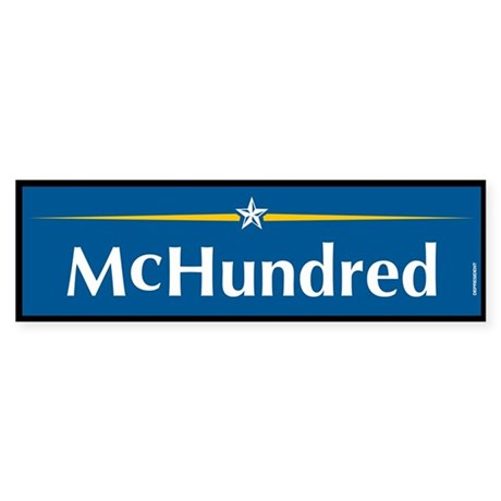 McHundred Anti McCain Bumper Sticker