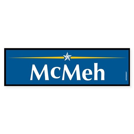 McMeh Anti John McCain Bumper Sticker
