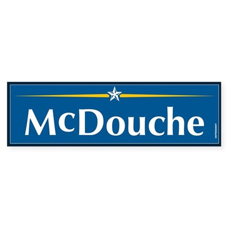 McDouche Anti McCain Bumper Sticker