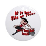 Tits Or Tires Keepsake (Round)