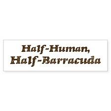 Half-Barracuda Bumper Bumper Sticker