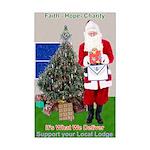Masonic Support YOUR Lodge Santa Mini Poster Print
