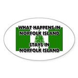 What Happens In NORFOLK ISLAND Stays There Decal