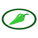 Green Chili Oval Decal