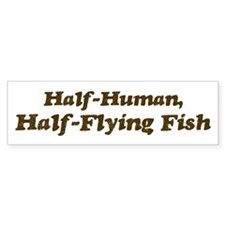 Half-Flying Fish Bumper Sticker (50 pk)