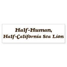 Half-California Sea Lion Bumper Bumper Sticker
