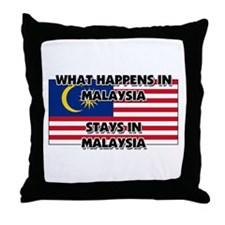 What Happens In MALAYSIA Stays There Throw Pillow