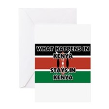 What Happens In KENYA Stays There Greeting Card
