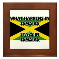 What Happens In JAMAICA Stays There Framed Tile