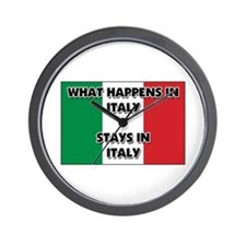 What Happens In ITALY Stays There Wall Clock