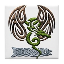 Tribal Dragon Tile Coaster